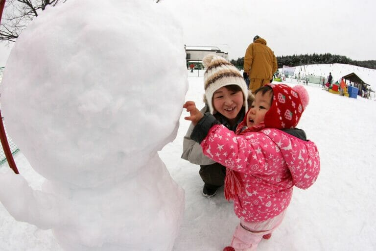 子供スキーキッズパーク雪遊び